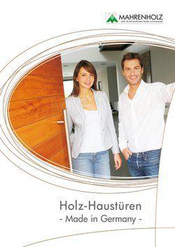 Katalog Holzhaustüren